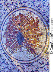 Octagon Pheasant Mosaic Peter's House Sea of Galilee...