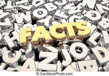 Facts Truth Verified Information Letters Word 3d Animation
