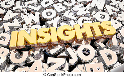 Insights Findings Intelligence Word Letters 3d Animation