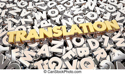 Translation Foreign Language Letters Word 3d Animation
