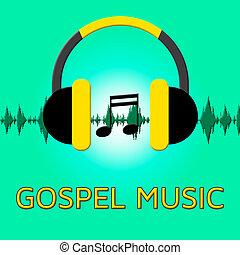 Gospel Music Shows Christian Teachings 3d Illustration -...