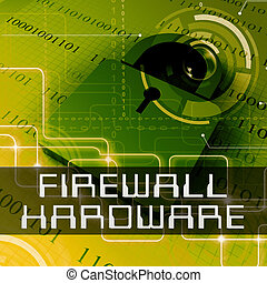 Firewall Hardware Shows Equipment Protection 3d Rendering