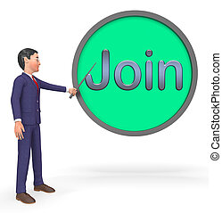 Join Sign Shows Registration Membership 3d Rendering - Join...