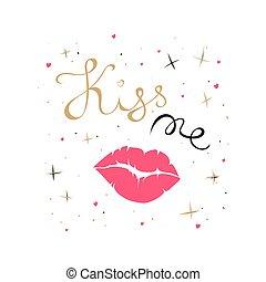 Kiss me card