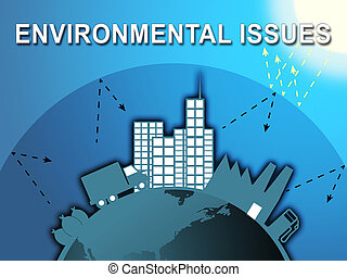 Environment Issues Shows Global Warming 3d Illustration -...