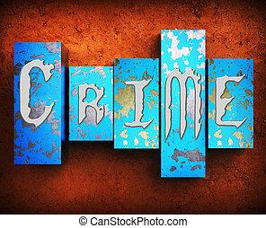 Crime Indicates Unlawful Act And Criminal 3d Illustration -...
