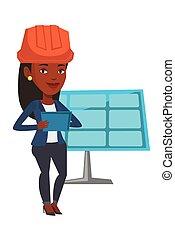 Engineer working on digital tablet. - African-american...