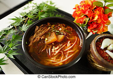 Hongseong beef soup, developed through academic exchanges...