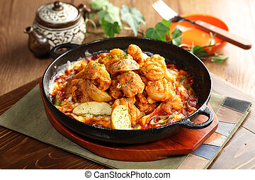 Korean style of Chengyang spicy taste to eat a la carte...