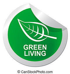 Green Living Shows Eco Lifestyle 3d Illustration