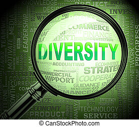Diversity Magnifier Shows Mixed Bag 3d Rendering