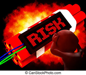 Risk On Dynamite Showing Unstable Situation 3d Rendering -...