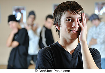 young teen hide face - young teen hidding face with hand
