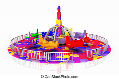 Amusement ride - Computer generated 3D illustration with an...