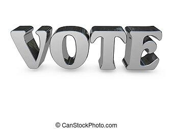 vote 3D lettering