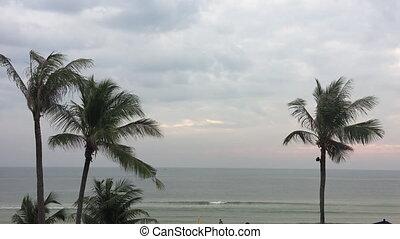 Hua Hin beach in Thailand - The Hua Hin beach panoramic view