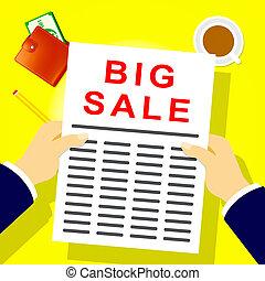 Big Sale Shows Closeout Discounts 3d Illustration - Big Sale...