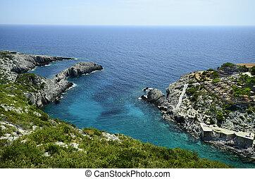 Greece, Zakynthos - Zakynthos, Greece, Porto Limionas,...