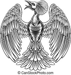Peacock Phoenix bird design
