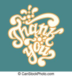 Thank You hand drawn lettering, calligraphy, greeting card...