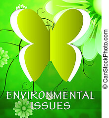 Environment Issues Butterfly Shows Nature 3d Illustration -...