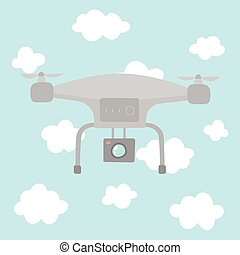 Quadcopter in the sky.