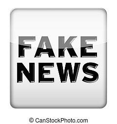 Fake News icon button