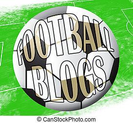 Football Blogs Shows Soccer Blog 3d Illustration