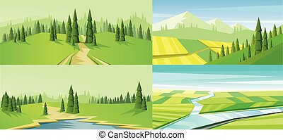 Digital vector abstract background set