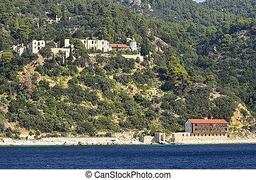 Greece, Athos Peninsula - Greece, Mount Athos, Skiti Thevais...