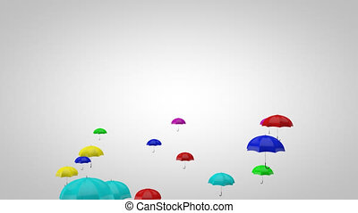 Umbrellas - 3D Animation