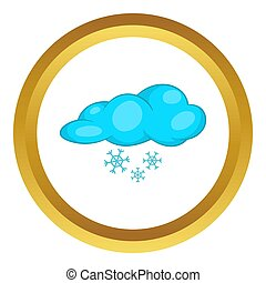 Snow and cloud  icon