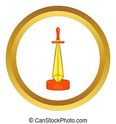 Golden sword award  icon