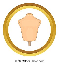 Mannequin or dressmakers dummy  icon