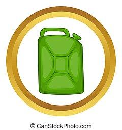 燃料, 小さなかん, 緑, アイコン
