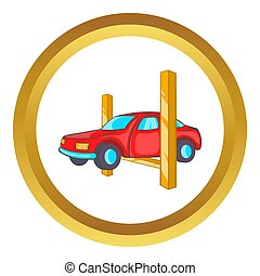 Car lifting  icon