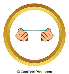 Rope in hands  icon