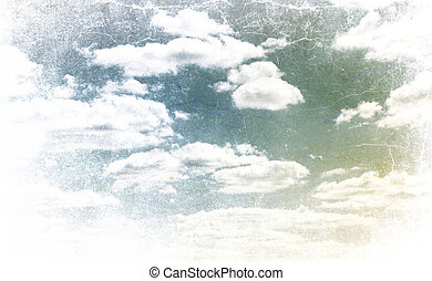 Calm sky. Photo in vintage image style.