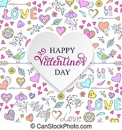 Colorful Valentine's card