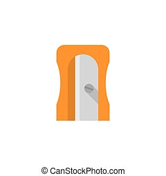 pencil sharpener isolated on white background. Vector...