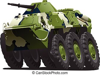 Armoured personnel carrier - Vector illustration of Armoured...