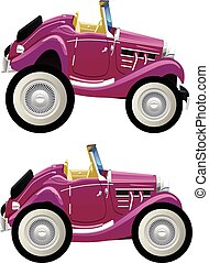 vintage convertible - Vector drawing of retro convertible....