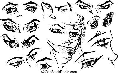illustration of eyes.