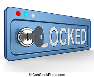 Locked Security Represents Secure Unauthorized 3d Illustration