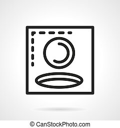 Golf hole simple black line vector icon