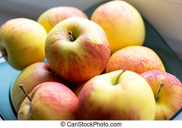 Apples - many red and yellow apples