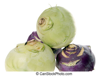 Kohlrabi over a bright background