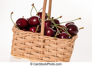 many cherries in a basket