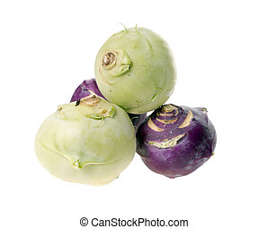 Kohlrabi isolated over a white background
