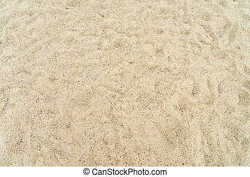 Sandpit with many sand